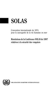 I160F - SOLAS: Bulk Carrier Safety, 1999 French Edition