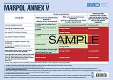 IA659E - book: MARPOL Annex V discharge provisions placard, 2017